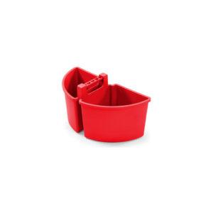 Большой контейнер на 10 литров (2 отделения по 5 литров), красный